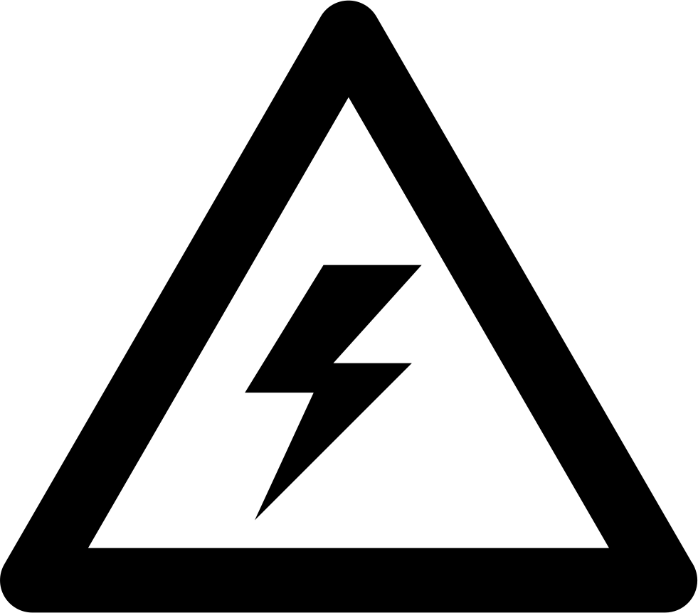 Warning Voltage Sign Of A Bolt Inside A Triangle Svg Png