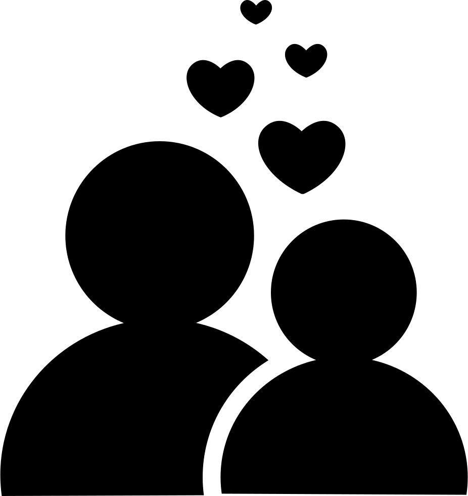 Download Couple In Love With Hearts Svg Png Icon Free Download ...