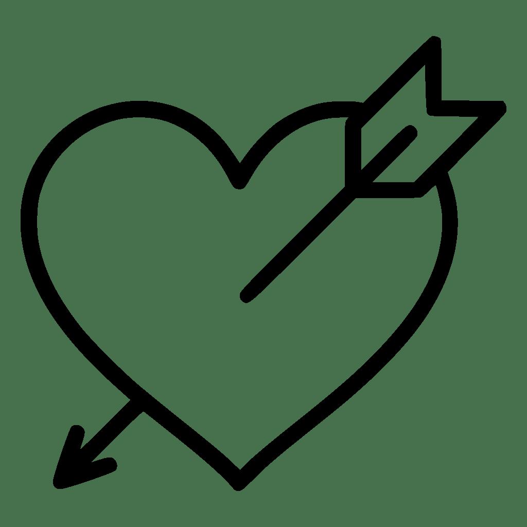 Download Love Valentine Santa Heart Arrow Svg Png Icon Free ...