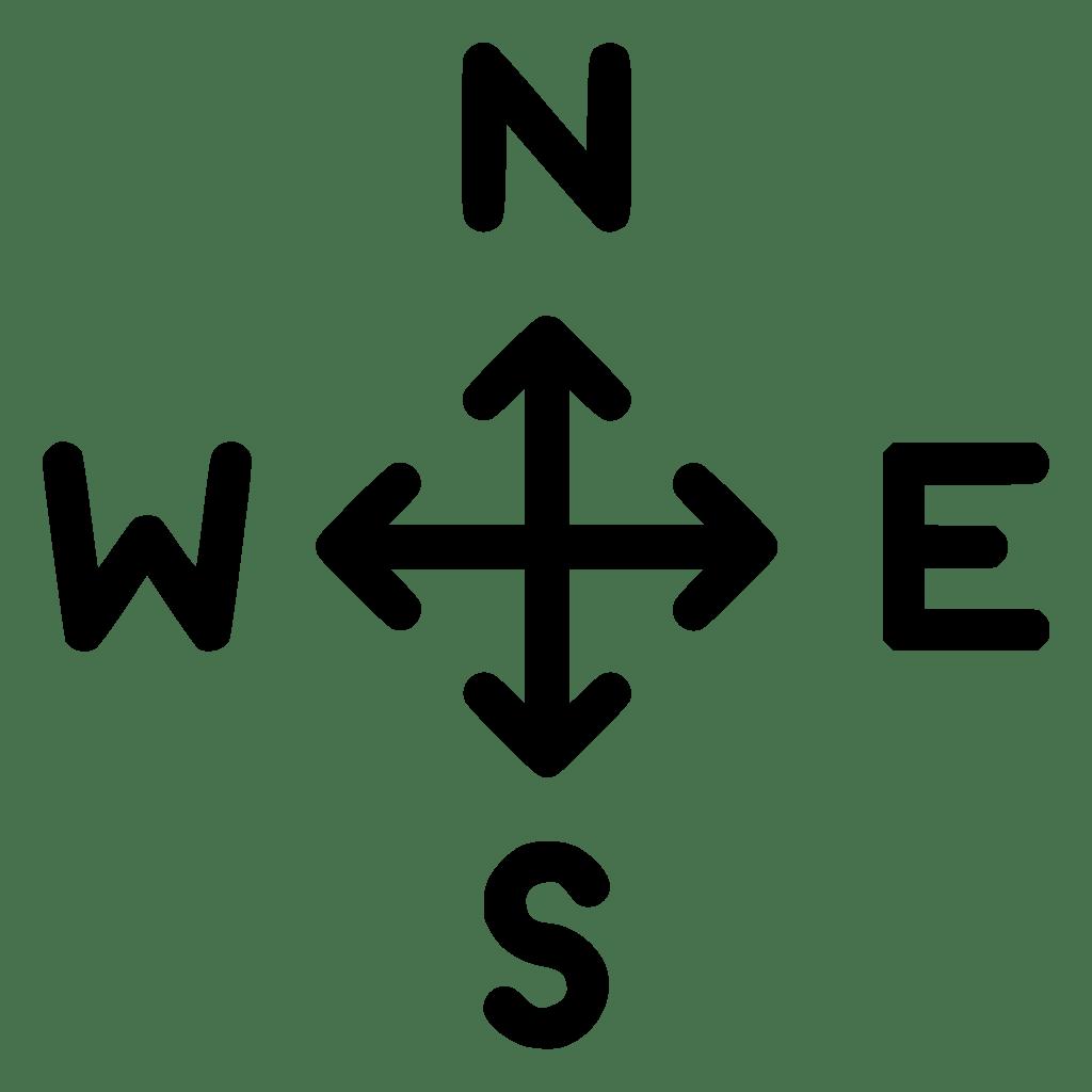 Direction Navigation Arrow North East West South Svg Png ... on ( ̄︶ ̄)↗  id=88858