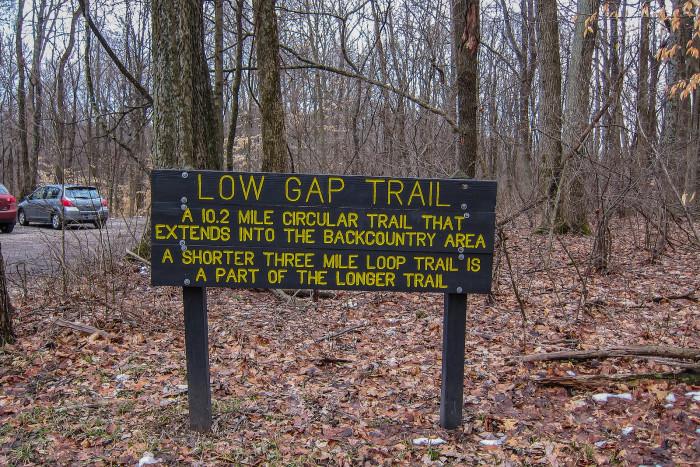 4.) Low Gap Trail