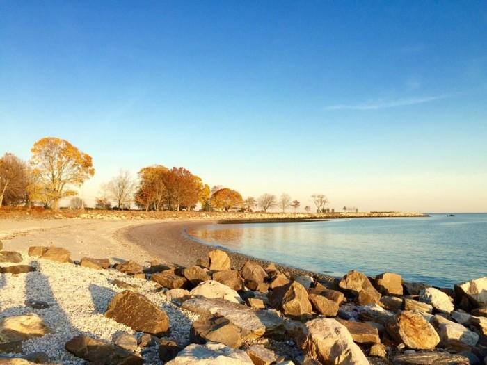 6. Sherwood Island State Park in Westport is great in the summer and fall. Its still waters are great for kids and swimmers.