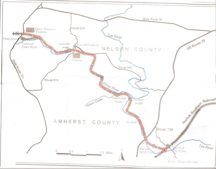 Blue Ridge Scenic Railway Map