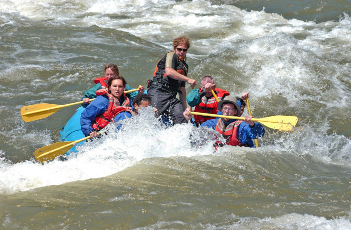 5. Whitewater raft on the American River.