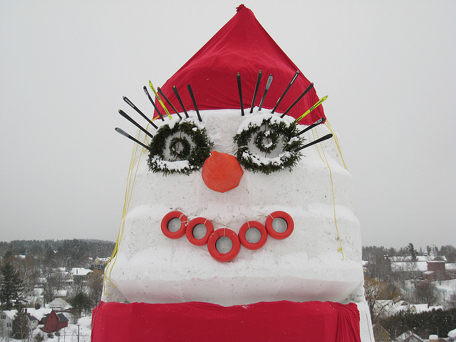 Maine Holds The Record For Largest Snowman Ever Built