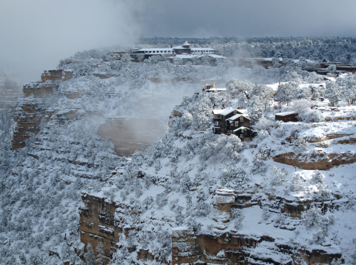 4. The Grand Canyon's south rim looks particularly chilling in this photo.