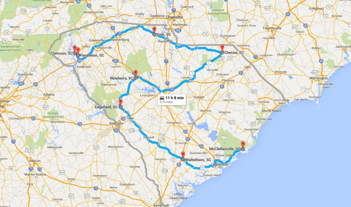 9 Must Do South Carolina Road Trips With Maps Included
