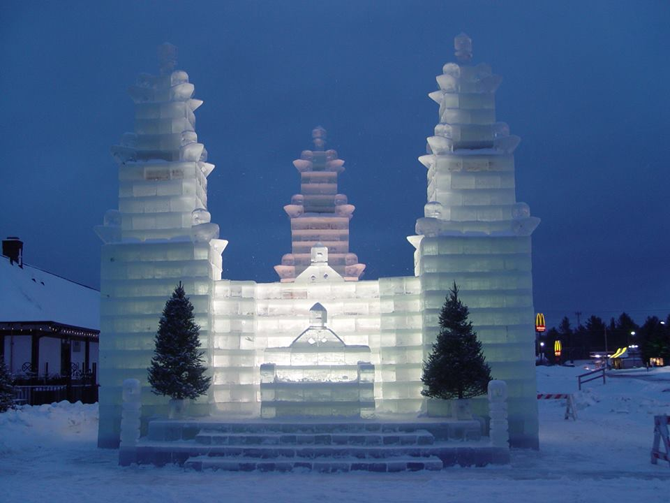 The Annual Ice Castle In Eagle River Wisconsin Is Made By