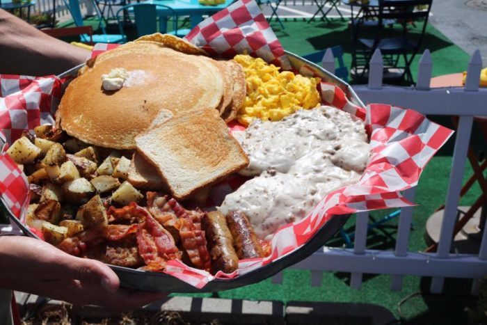 The He Man Breakfast At The Poky Dot Restaurant In West