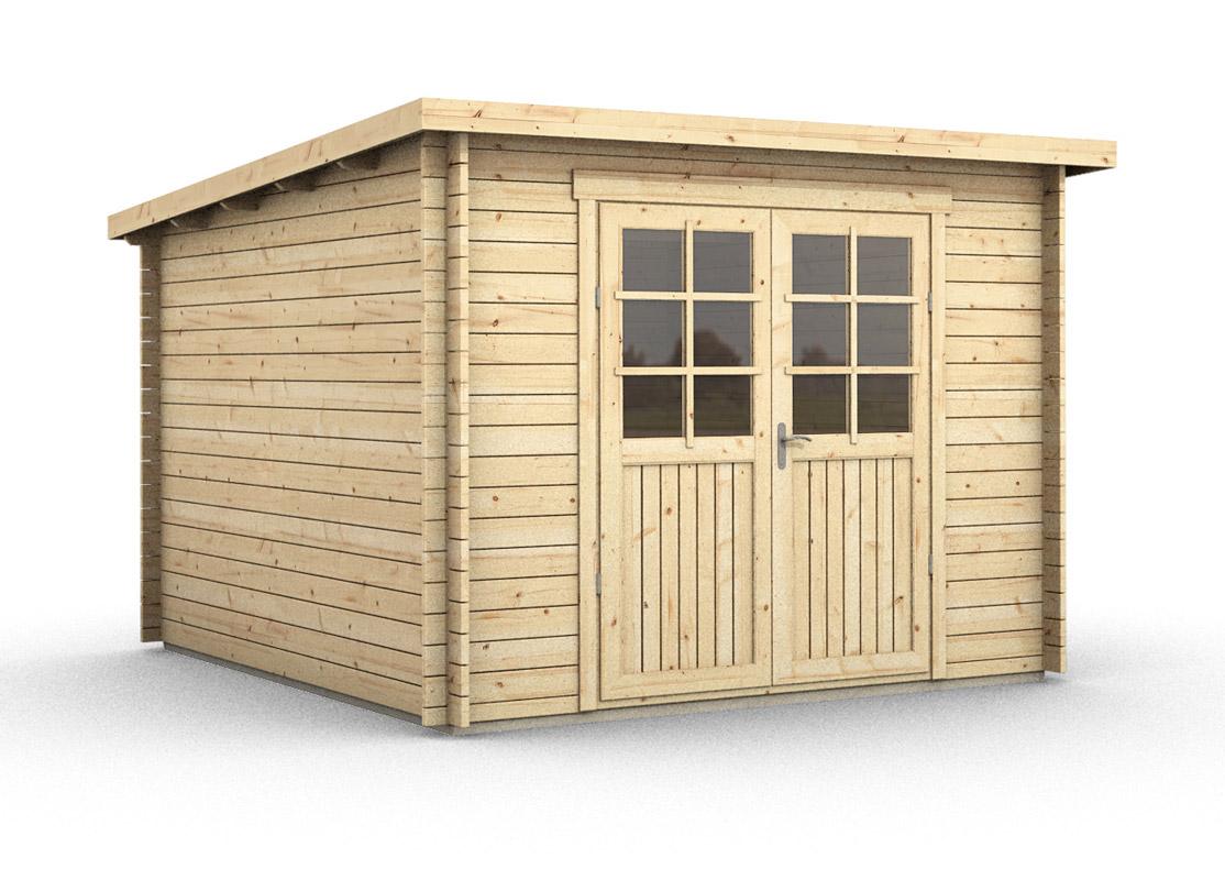 abri de jardin bois ep 28mm 9 5 m toit plat hurtgen