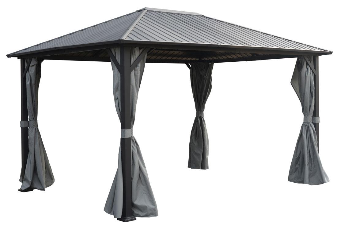 tonnelle autoportante toit acier 3x4m bergerac rideaux