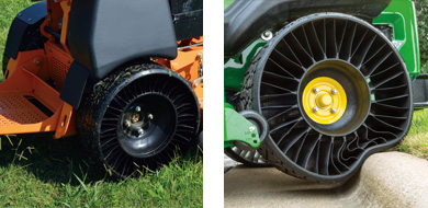 Michelin Supplies X Tweel Tires To Mean Green Mower Line   OPE Reviews If you ve not been enlightened yet to the unique design of Michelin s X  Tweel Turf tires  here s the deal   Tweels  as one standalone unit