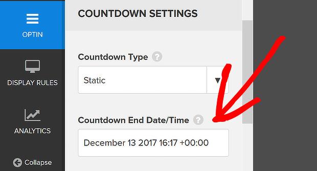 edit countdown end date