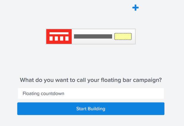 om name floating bar countdown