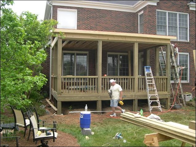 build an enclosed roof over patio