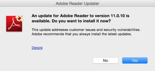 Отключить всплывающие окна Adobe Update Manager