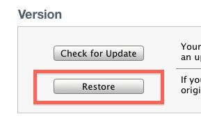 переформатировать iPad с восстановлением