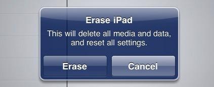 переформатировать ipad