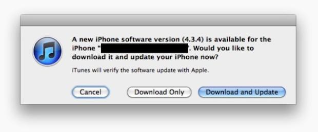 iOS 4.3.4 Обновить