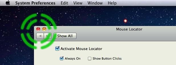 Локатор мыши для Mac OS X