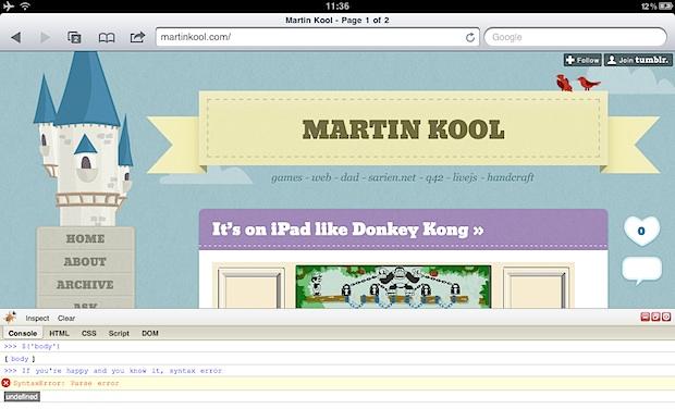 Firebug на iPad