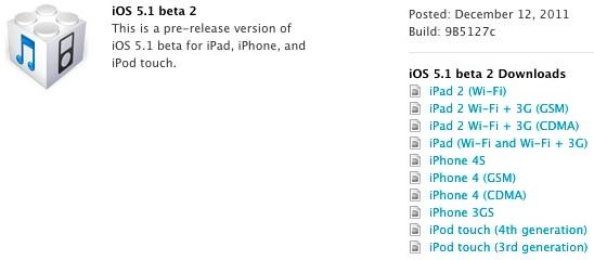 iOS 5.1 Бета 2