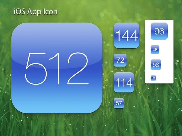 Шаблон значка приложения Retina для iOS