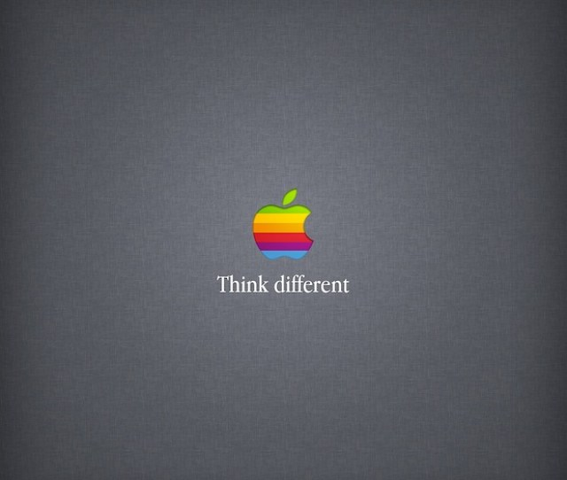 Think Different Retro Rainbow Apple Wallpaper