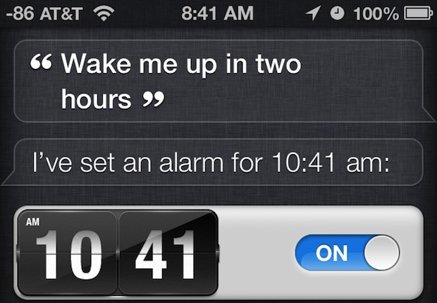 Set an alarm with Siri