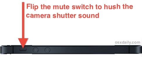 Mute the iPhone camera sound