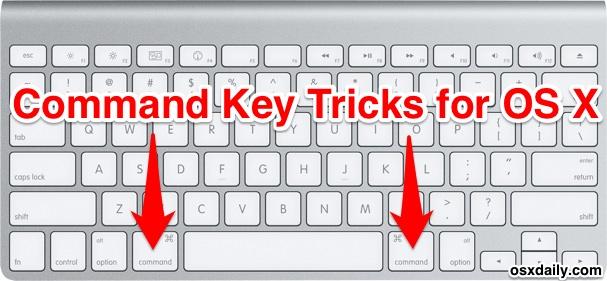 Приемы командных клавиш для OS X