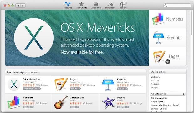 Загрузите Mavericks из Mac App Store