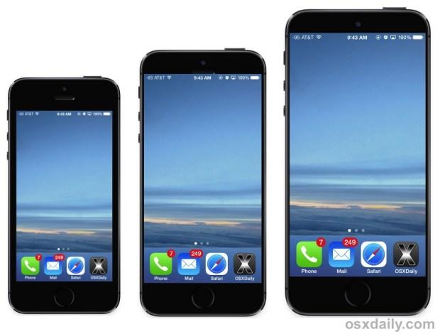 Макет новых iPhone с большими экранами