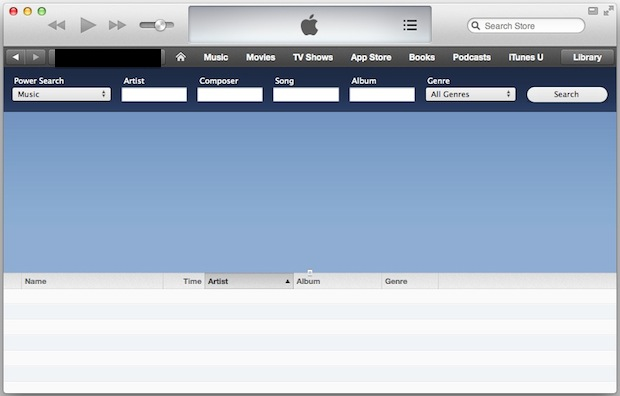 Power Search Music в iTunes