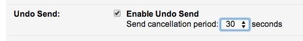 Настройте период отзыва электронной почты для отмены отправки в параметрах Gmail