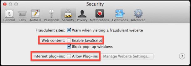 Как отключить Javascript