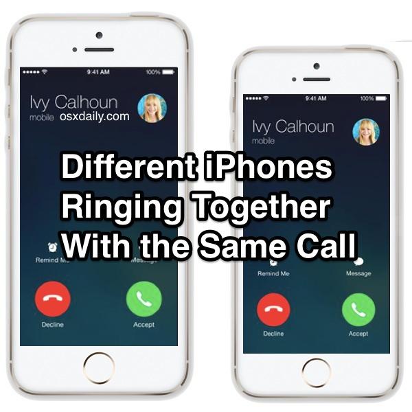 Разные iPhone звонят одновременно