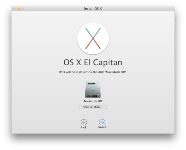 Установка OS X El Capitan