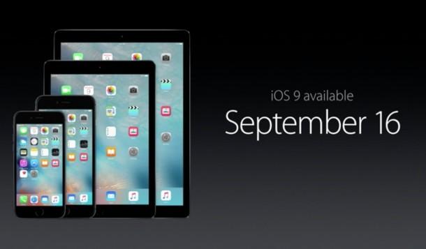 Дата выхода iOS 9
