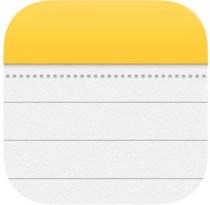 Значок заметок в iOS
