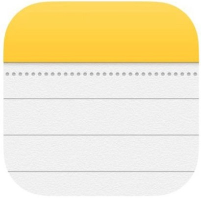 Notes icon in iOS