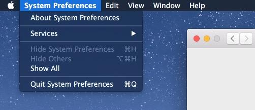 Раскрывающееся меню темного режима в OS X Mac x1
