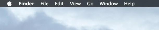 Скрыть и отобразить строку меню в Mac OS X