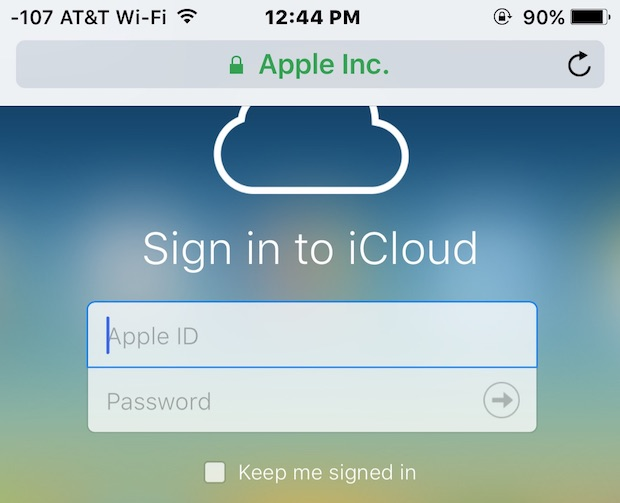 Sign in to iCloud login page with full iCloud.com features from iPhone, iPad, iPod touch