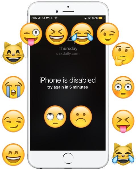 Установить iPhone отключен в качестве обоев в качестве розыгрыша