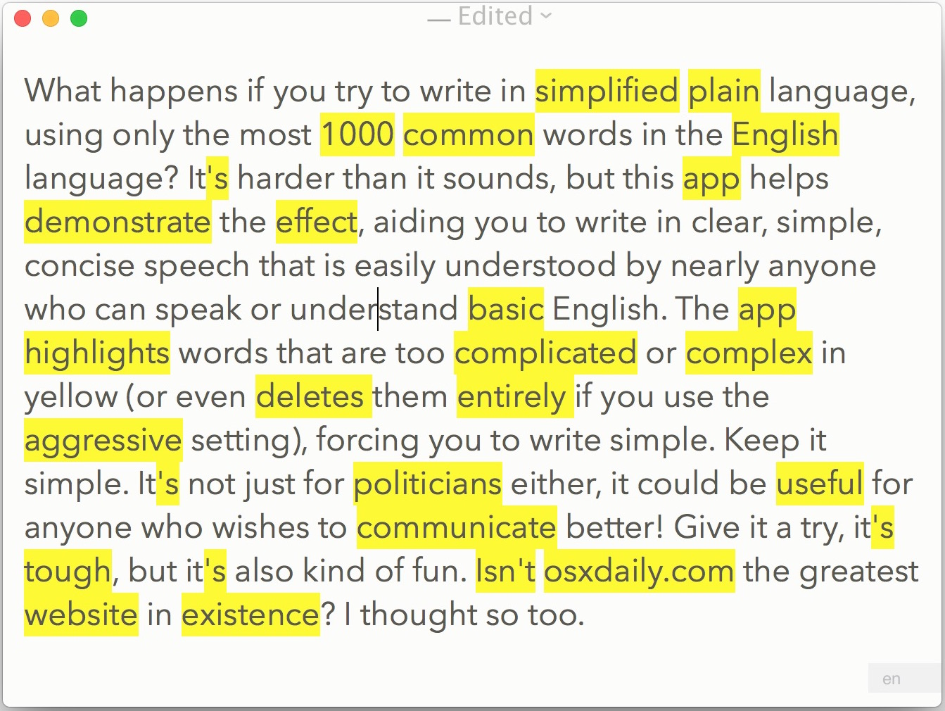 Write Like A Politician With Simple Language Editor For Mac