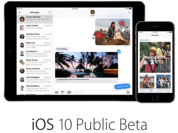 Публичная бета-версия iOS 10