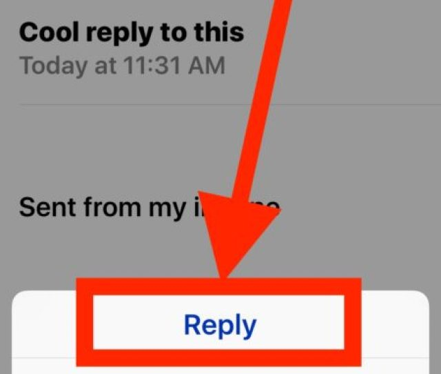 Choose The Reply Option To Reply To An Email Message On Iphone