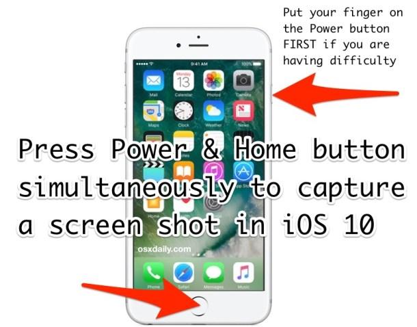 Как сделать скриншот iOS 10