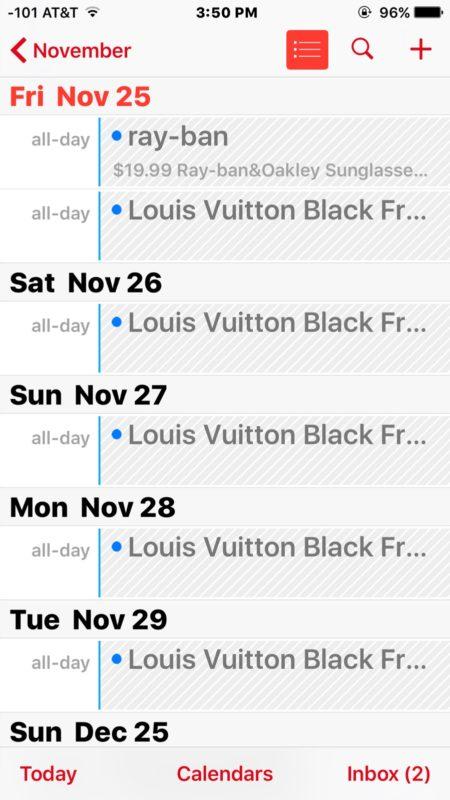 Icloud Calendar Spam On Iphone